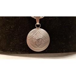 """Der """"Öttinger Pfennig"""" in Silber, handgeprägt, handgearbeitet, 20 Millimeter Durchmesser stark."""
